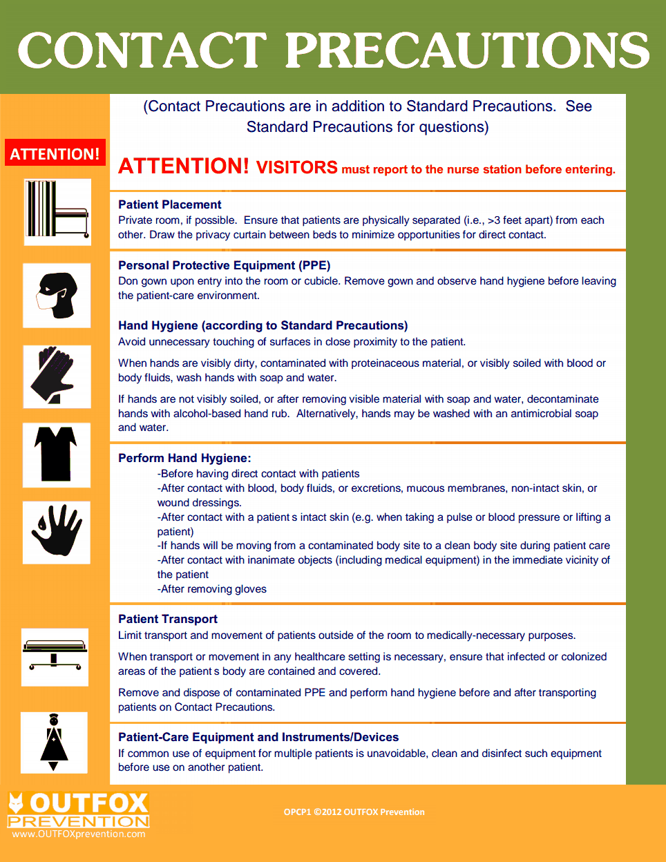 OUTFOX CDC Contact Precautions.pdf | X-Ray...totally RAD ...