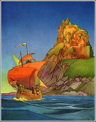 Frank Godwin Sailor Of The Paint Mover Of Sentiment Onto Page Love His Work And Be Awed Fairy Book Illustration Fairytale Illustration