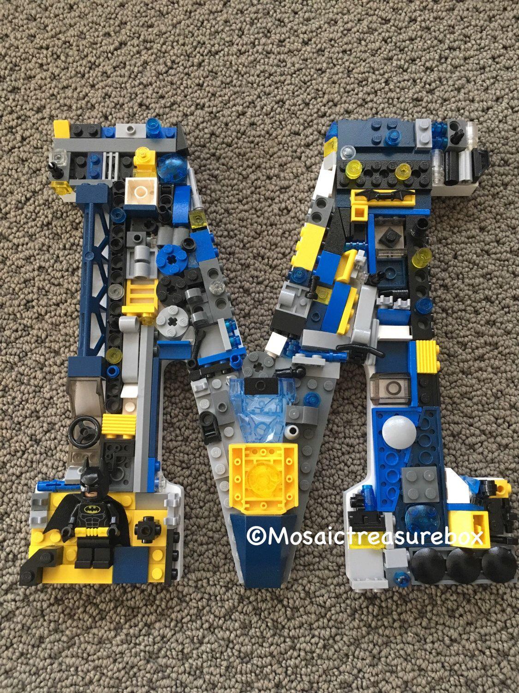 LEGO letter LEGO Batman  Mosaic treasure box Etsy