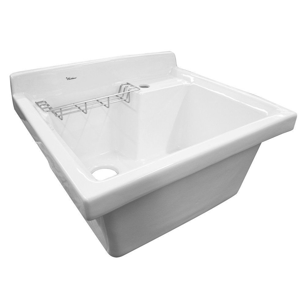 Vitreous China Single Bowl Utility Sink In 2019 Laundry Mud