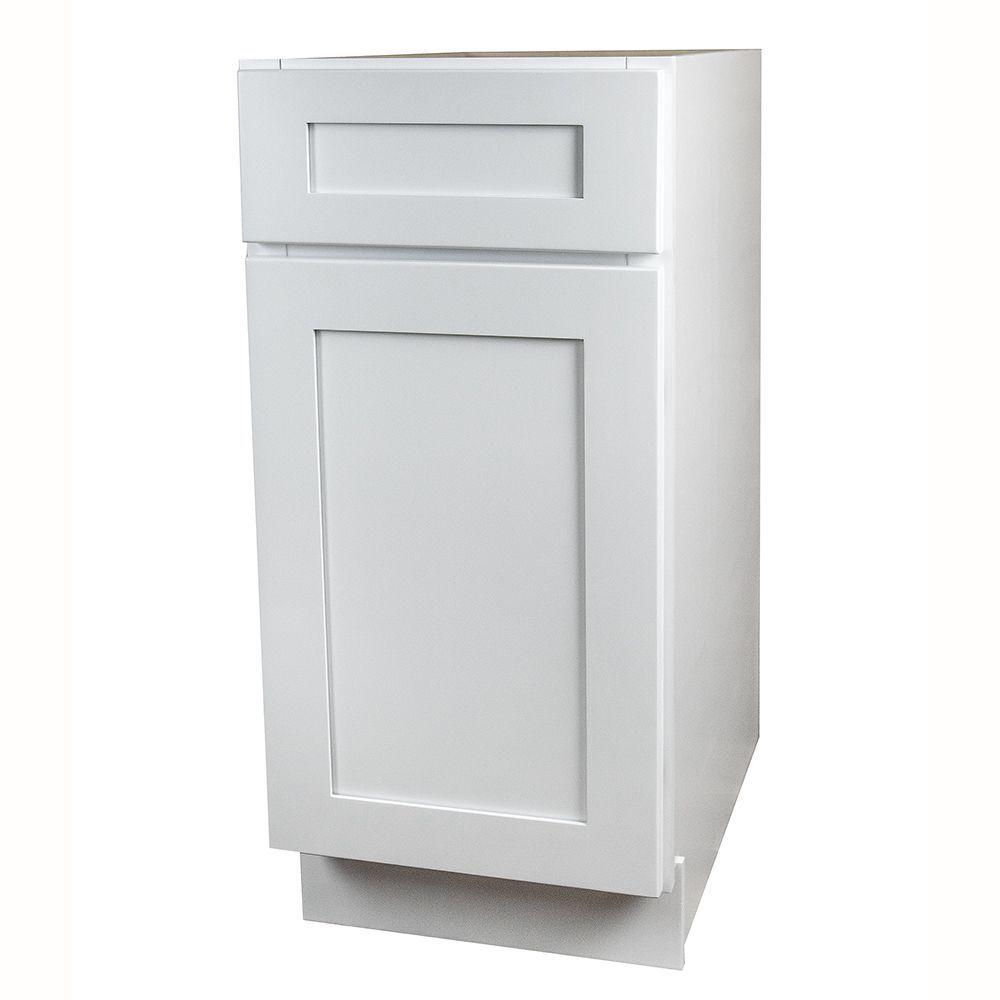 White Shaker Kitchen Base Cabinet | Kitchen base cabinets, Shaker ...