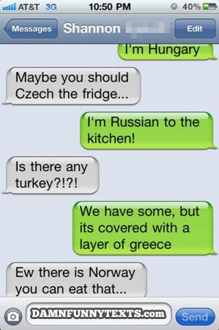 Damn Funny Texts discovered by Stephanie on We Heart It