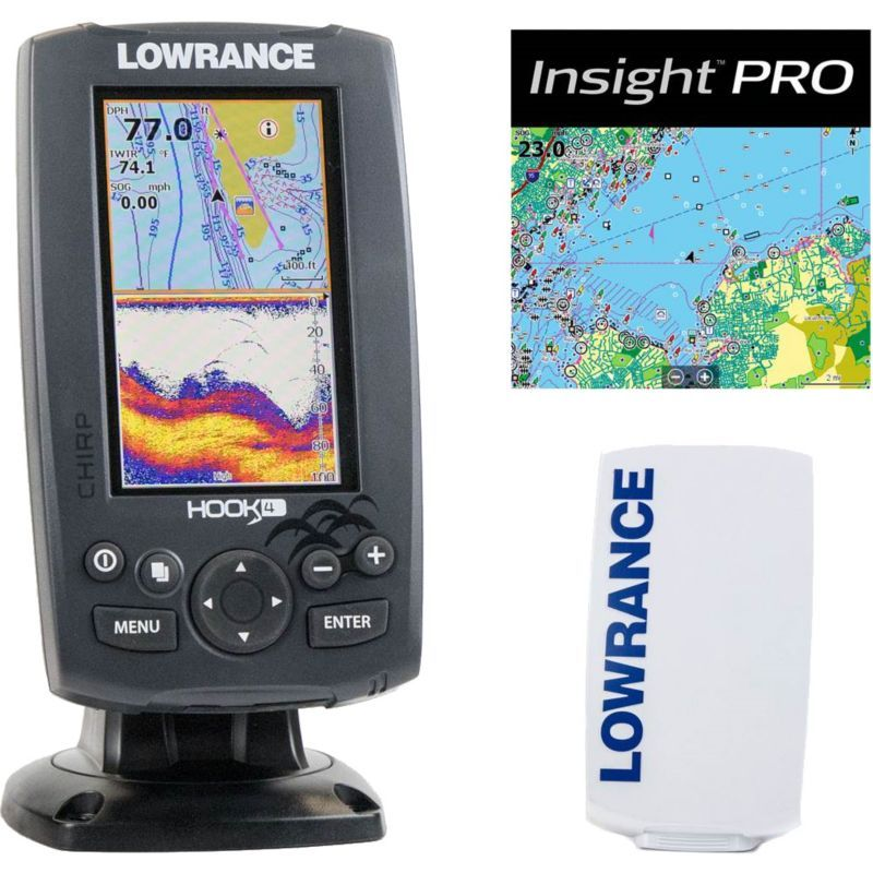 Lowrance Hook4 GPS Fish Finder Combo with Lake (Blue
