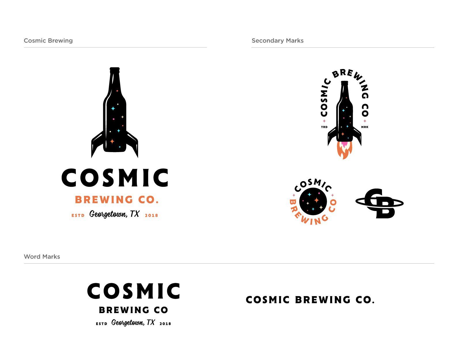 Cosmic Brewing Cosmic Logo Design Brewing