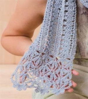 Lace scarf crochet pattern free