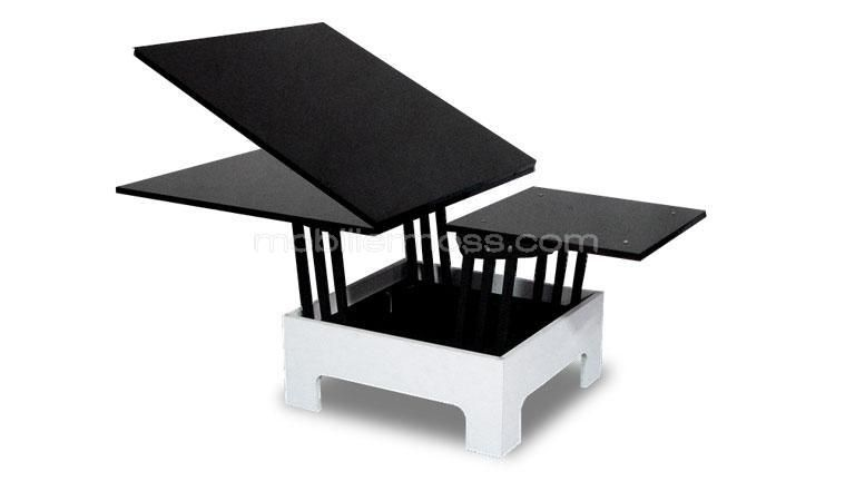 table basse relevable zebra ps z bres et tables. Black Bedroom Furniture Sets. Home Design Ideas