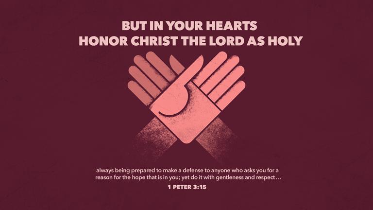 Verse of the Day from 베드로전서 315, 너희 마음에 그리스도를