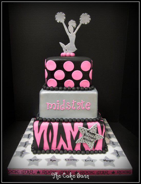 Cheer!   Teen Girl Cake   Cheerleading birthday cakes, Cheer cakes ...