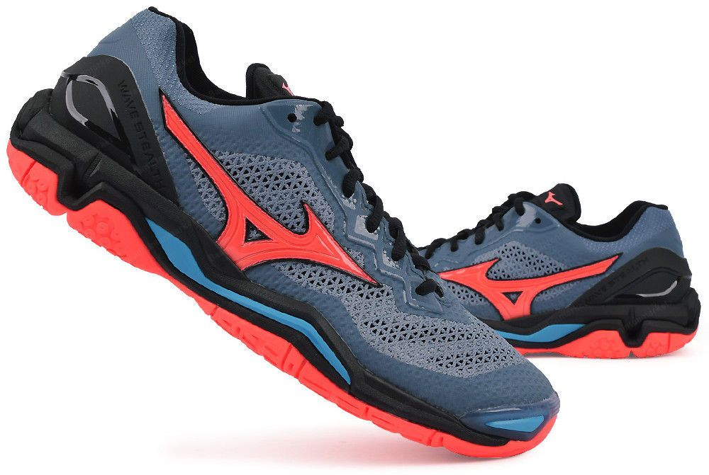 the best attitude 92b02 cb03d Mizuno Stealth 5 Handball Shoes Badminton Shoes Unisex Indoor Gray Racquet  NWT  Mizuno