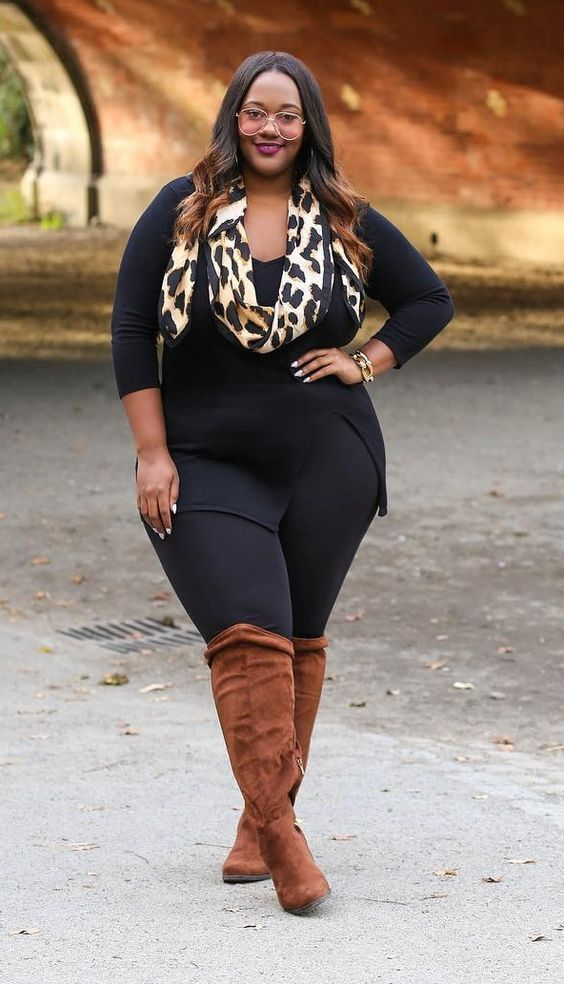 19 stylish ways to wear a plus size leggings outfit | Plus ...