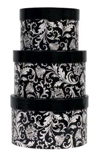 Black And White Decorative Boxes Premier Packaging Amzn41153 3Piece Nested Decorative Box Set