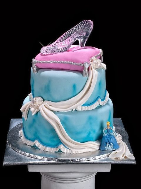 Cinderellas Glass Slipper as a Cake Topper Glass slipper Disney