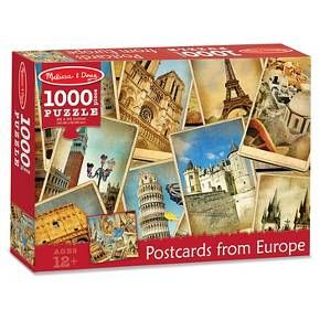 Melissa & Doug® 1000 pc Postcards from Europe Cardboard Jigsaw : Target