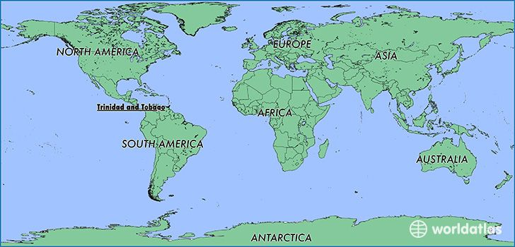 trinidad on a world map Where Is Trinidad And Tobago Where Is Trinidad And Tobago Located In The World Trinidad And Tobago Map Worldatlas Com South America Map Colombia South America Asia Continent