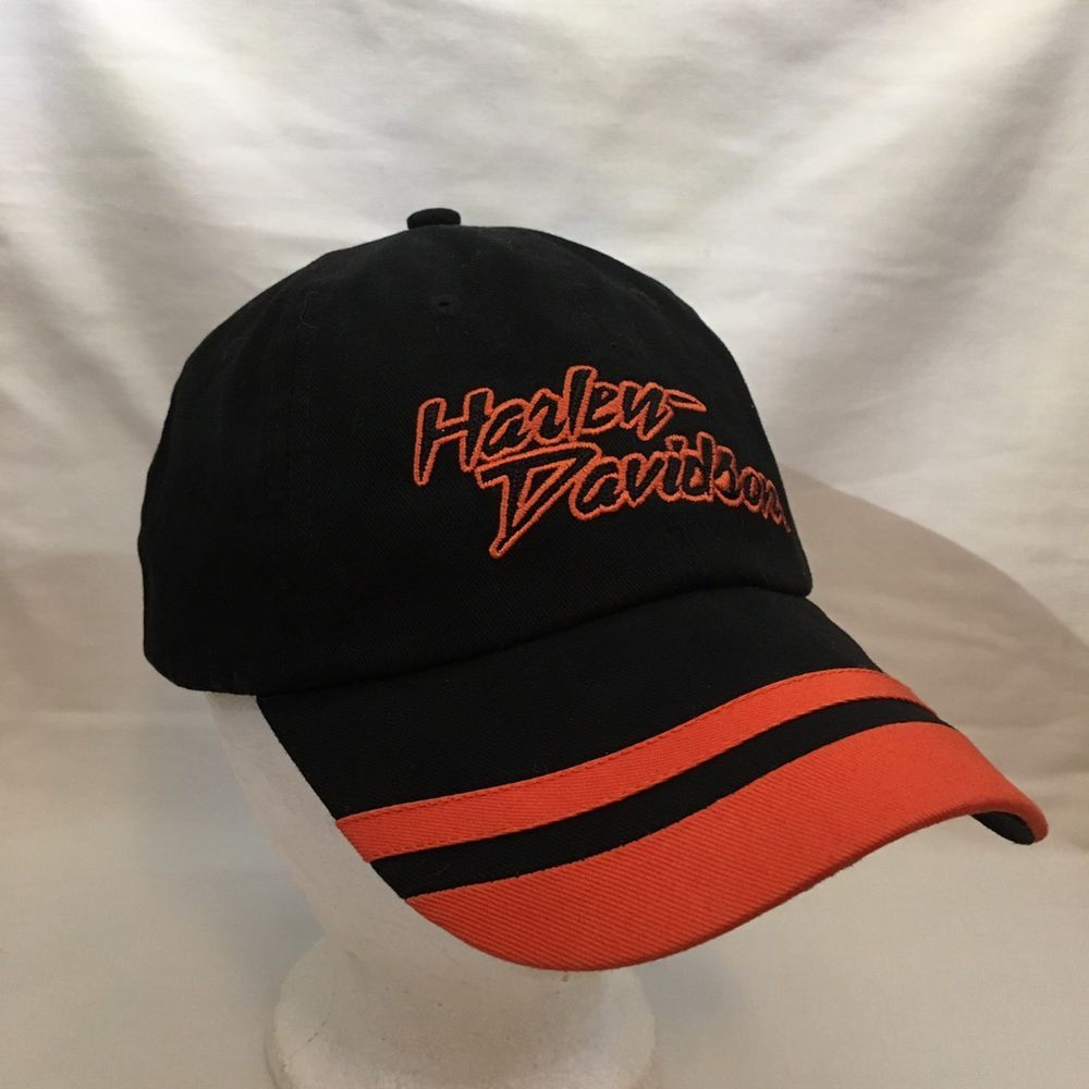 2f7409ee1f6 Harley Davidson Motorcycles Baseball Hat Cap Strapback HD Orange Black Hog   HarleyDavidson  BaseballCap