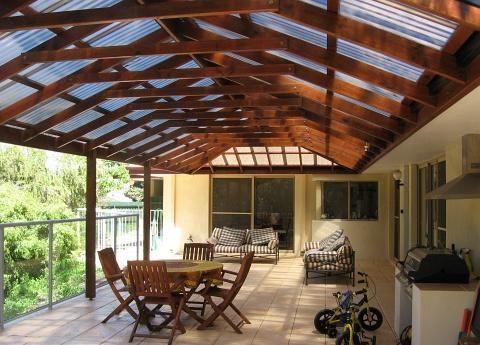 Fotos de decks cobertizos terrazas y p rgolas en madera for Cobertizos para terrazas