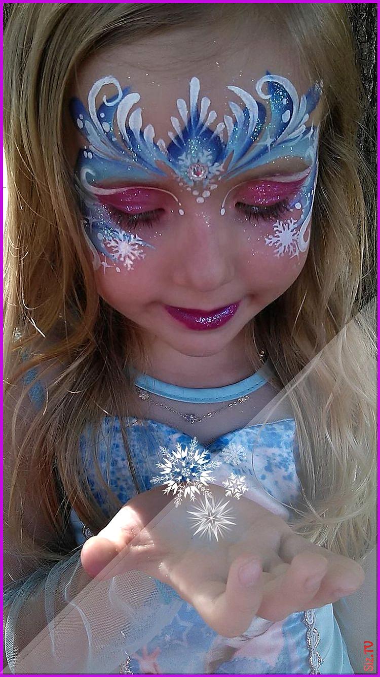Prinzessin Schminken Leicht Gemacht 25 Ideen Fur Madchen Neu Besten Prinzessin Schminken Leicht Gemach Frozen Face Paint Girl Face Painting Face Painting