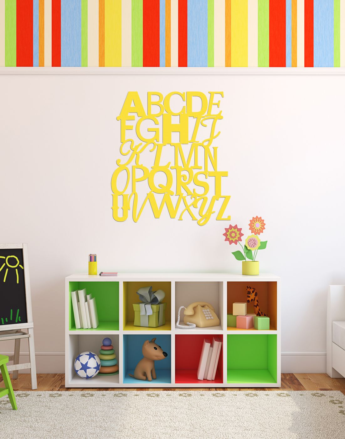 Contemporary Alphabet Wall Art Composition - All About Wallart ...
