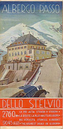 Albergo passo dello Stelvio, circa 1935 #TuscanyAgriturismoGiratola