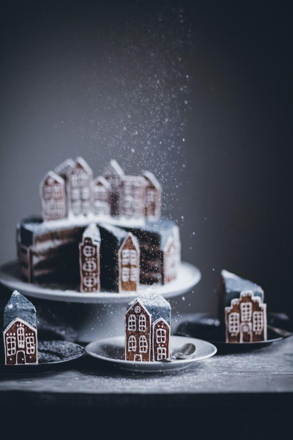 Gingerbread Village Cake - Call Me Cupcake - Christmas