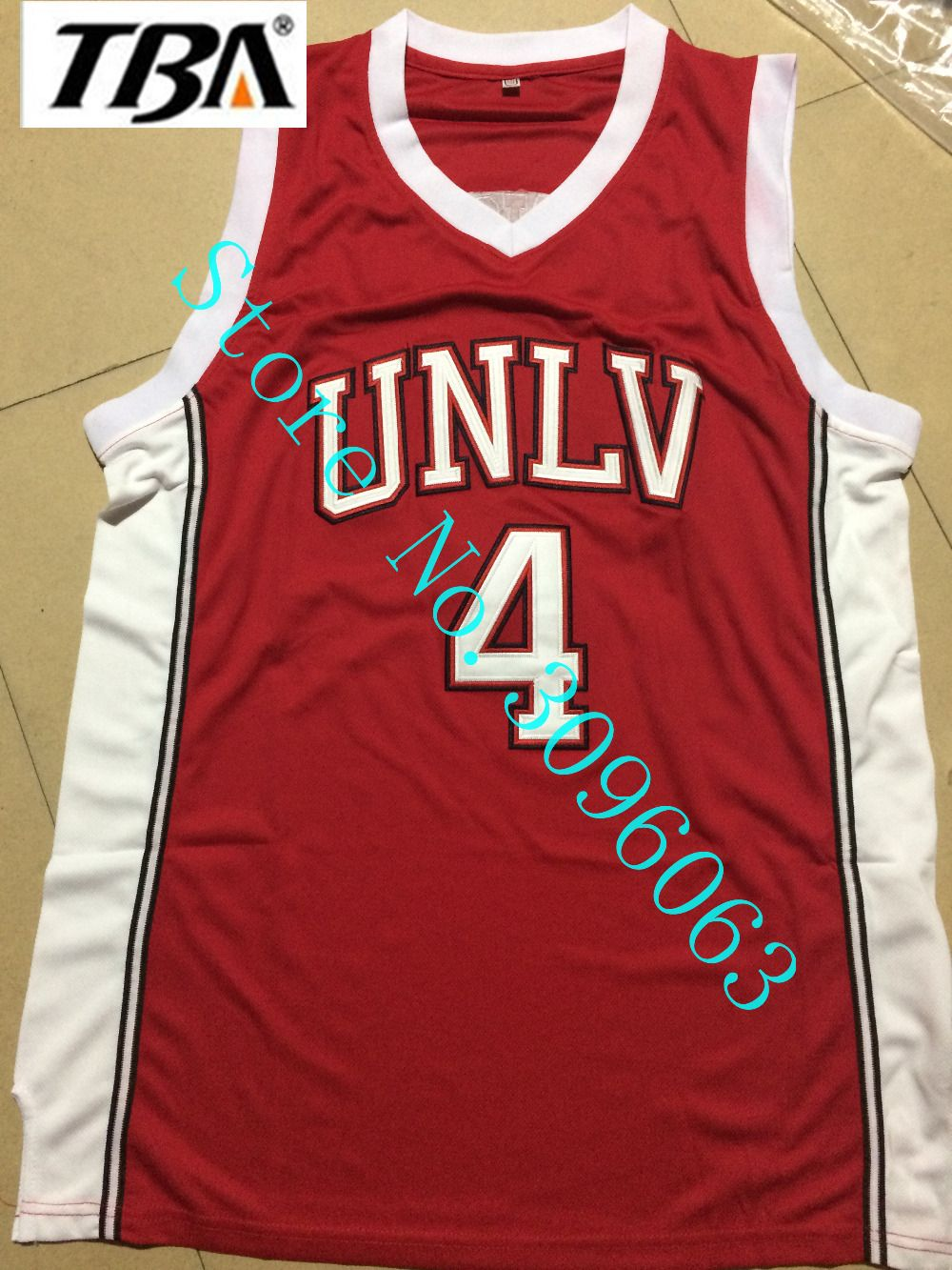 size 40 b9a75 3626b TBA Throwback Shirt Stitched Red Mens Basketball Jersey ...