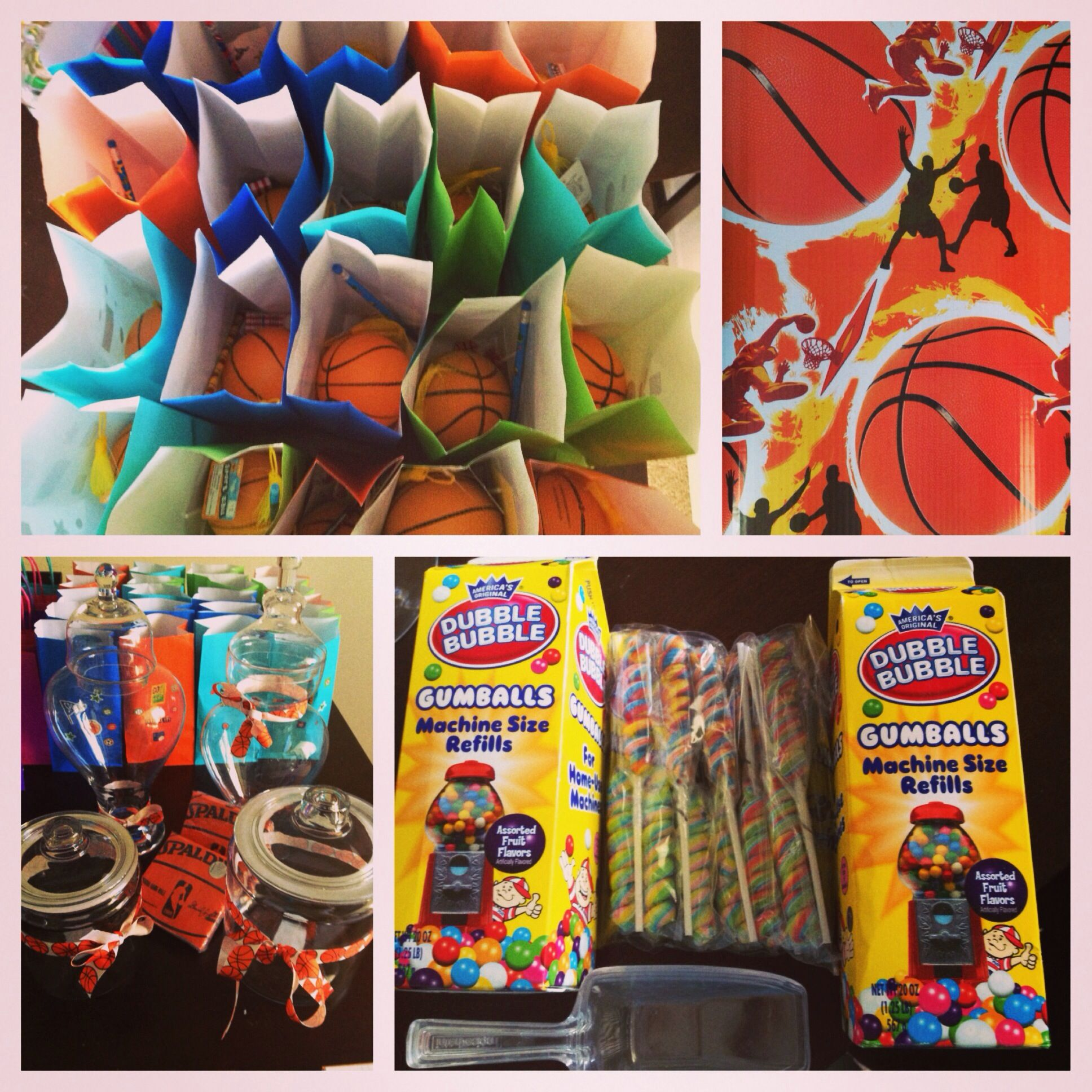 Basketball Party! Candy Jars/goodie Bags