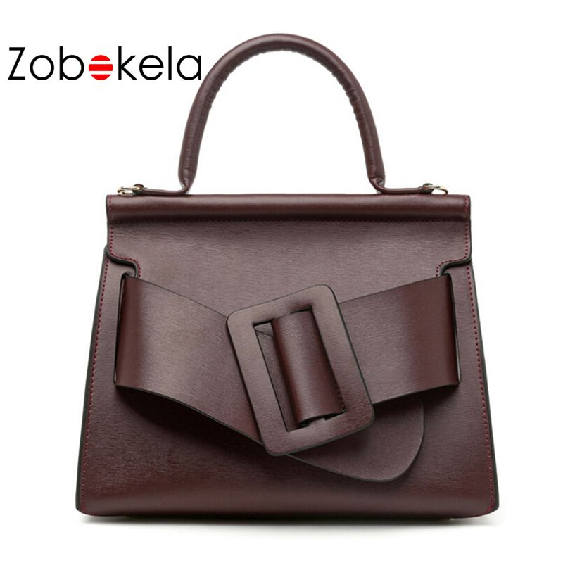 ZOBOKELA Genuine Leather Bag Women Handbags Luxury Designer Bags Handbags  Women Brand Shoulder Bag High Quality 1637581cdd5d6