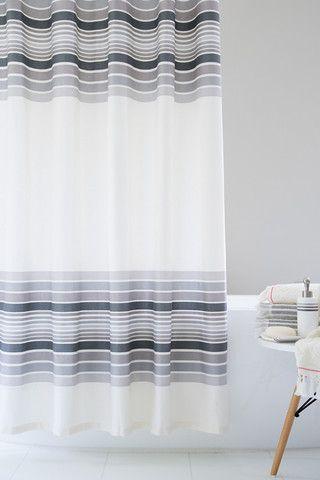 Carrara Stripe Caro Home Striped Shower Curtains Curtains