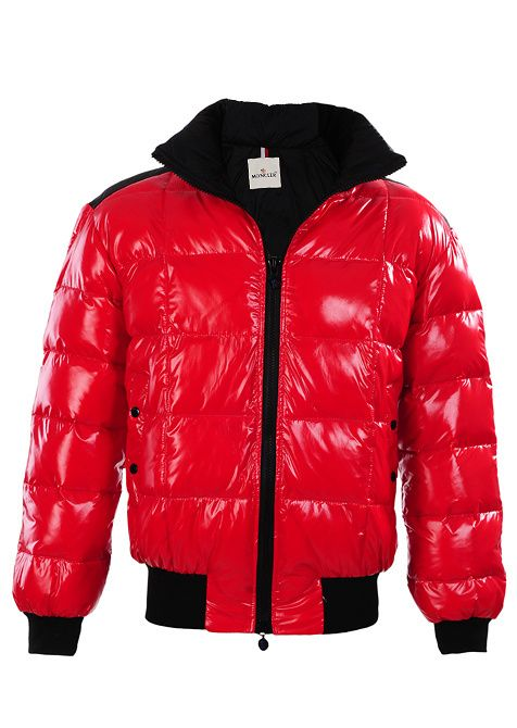 moncler red bubble jacket