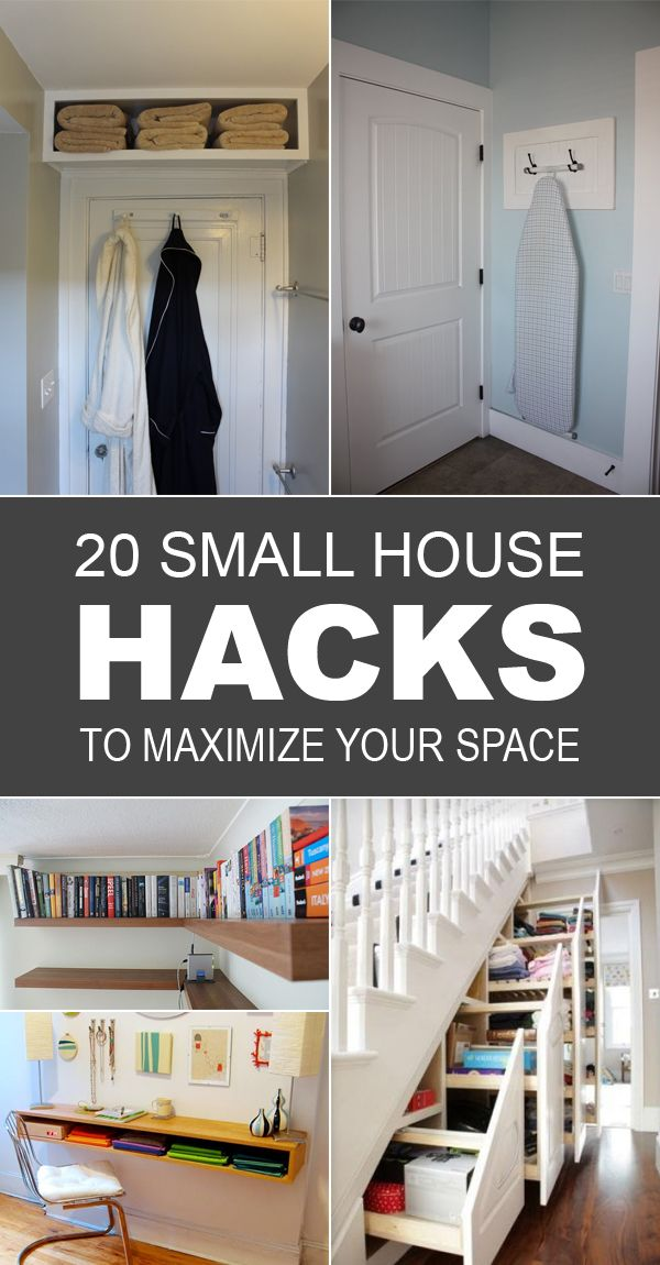 20 small house hacks to maximize your space smallest for Small space homes