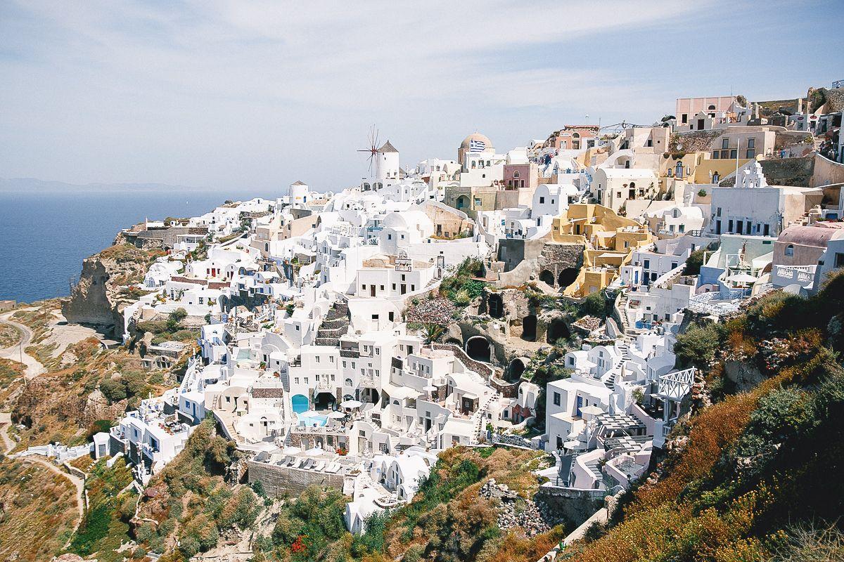 Белые домики Санторини