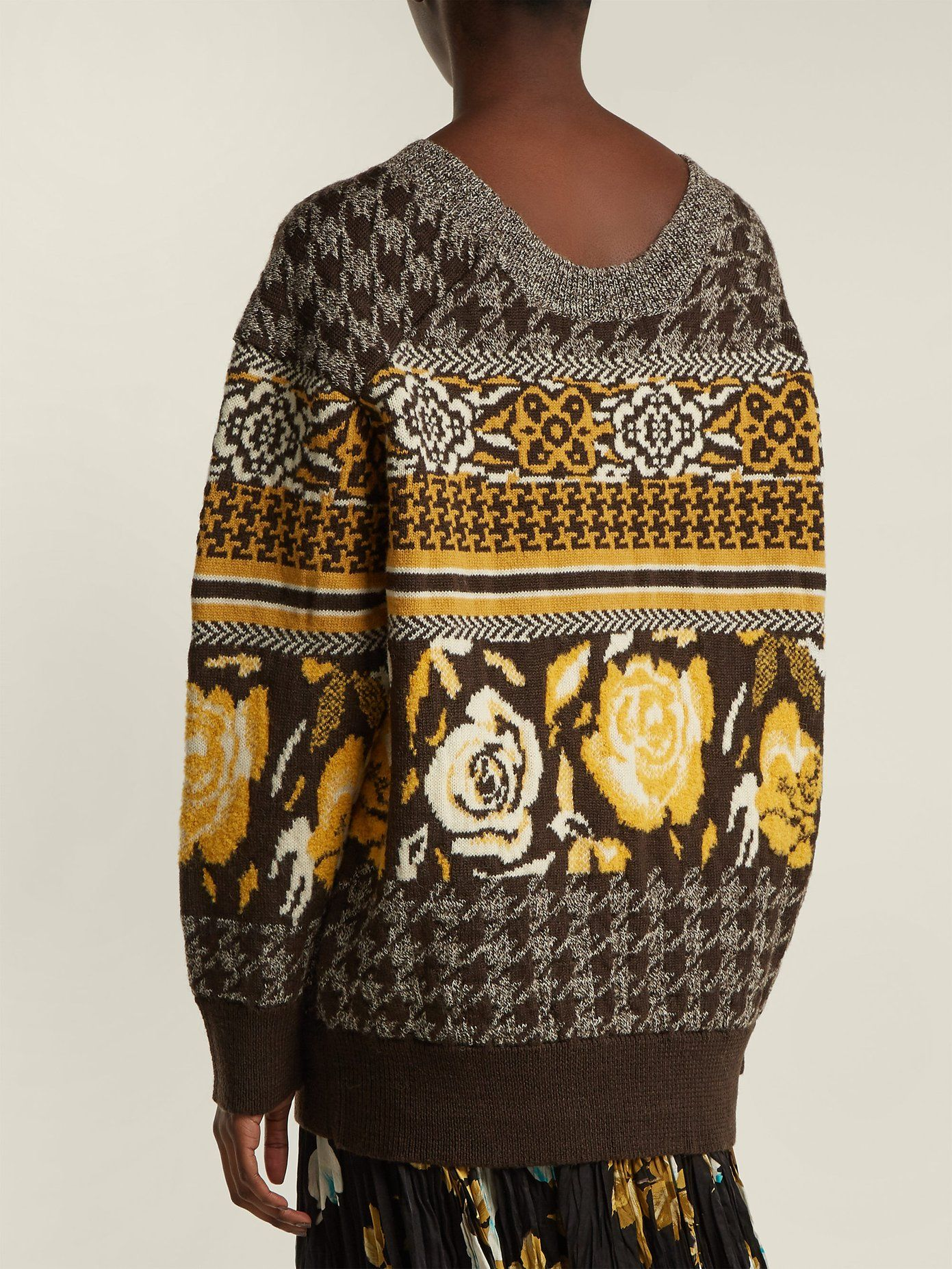 Jacquard knit wool blend sweater | Junya Watanabe