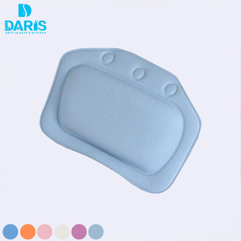 PVC Foam Bath Spa Suction Pillow Neck Support Back Pain Relieve Bath ...