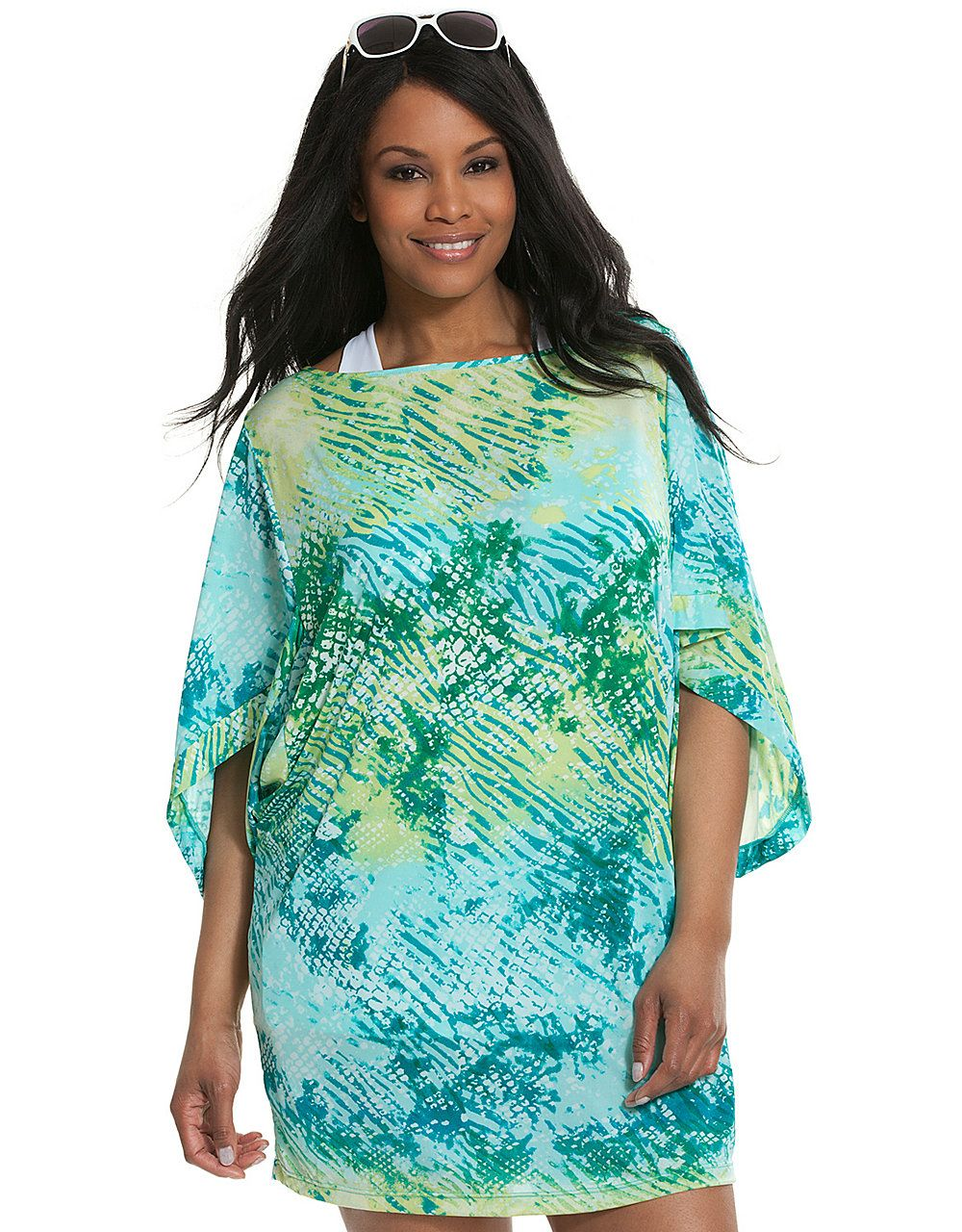 27bbff2515d83 PURCHASED*Animal print kimono swim cover-up by Cacique   Lane Bryant ...