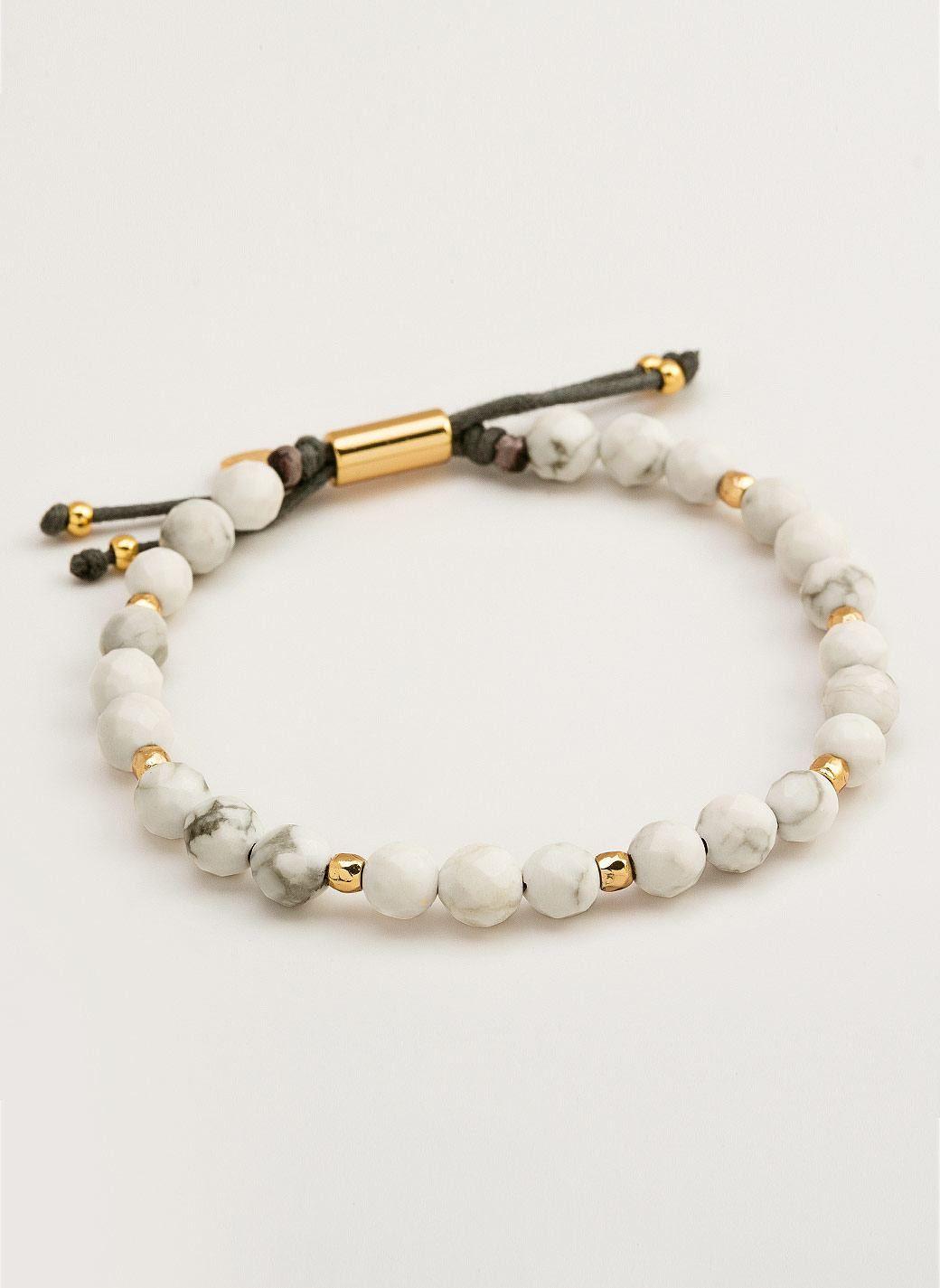 Power Gemstone Howlite Beaded Bracelet For Calming - Power Gemstones - All Jewelry