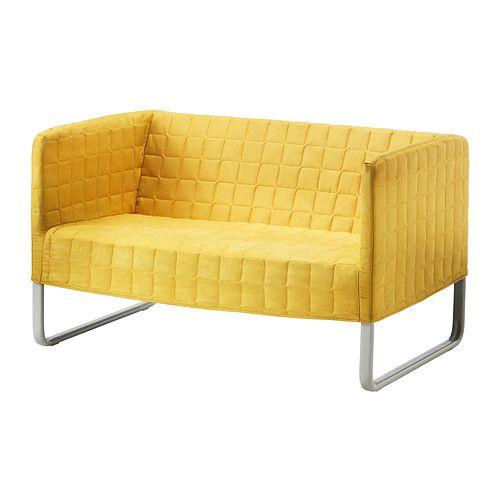 IKEA - KNOPPARP, Dvojpohovka, jasná žltá, , Pohovka KNOPPARP je veľmi odolná vďaka kovovej konštrukcii a pevnej podpornej látke.Snímateľný poťah sa ľahko udržiava čistý, pretože ho možno prať v práčke.Malé a praktické balenie – jednoducho odveziete domov autobusom alebo metrom.Malá vkusná pohovka, ktorá se vojde i do malého priestoru.10-ročná záruka. Viac informácií nájdete v brožúrke o zárukách.