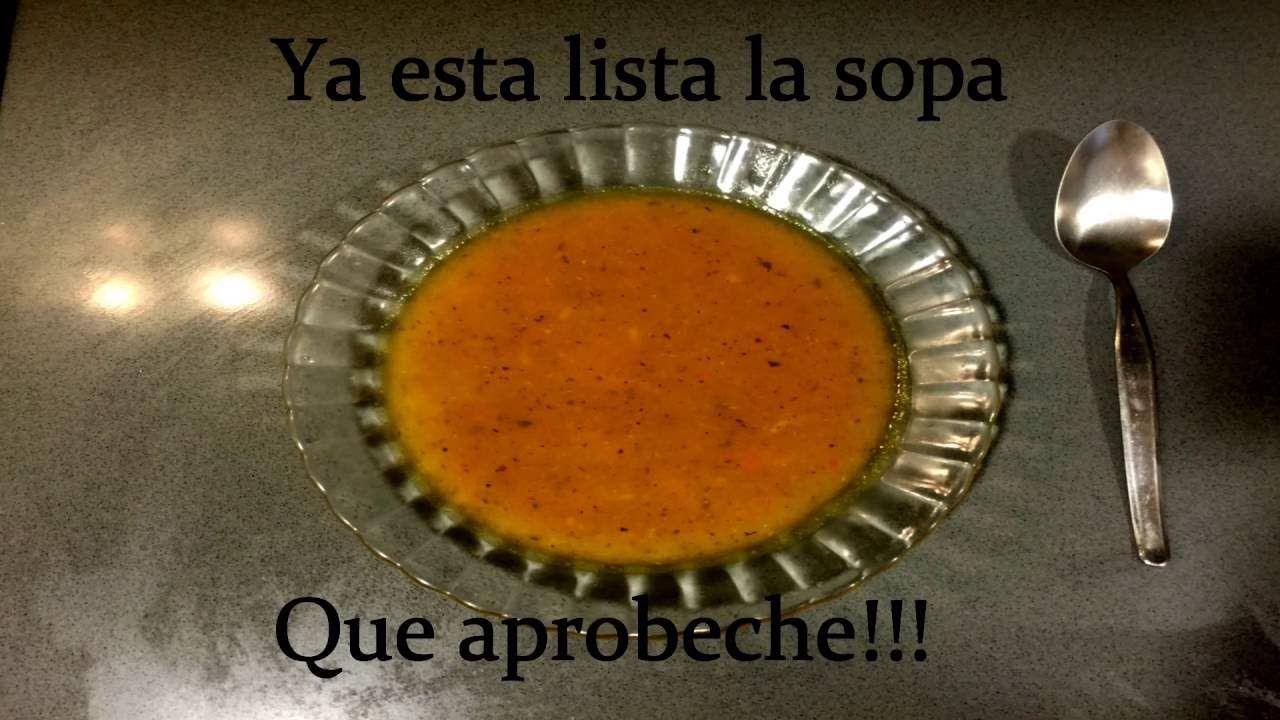 Sopa de verdura muy fácil de hacer