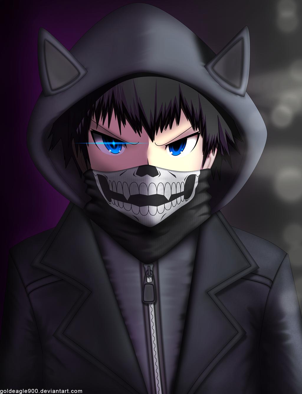 Anime Boy With Skull Mask Anime Cute Anime Guys Anime Gas Mask