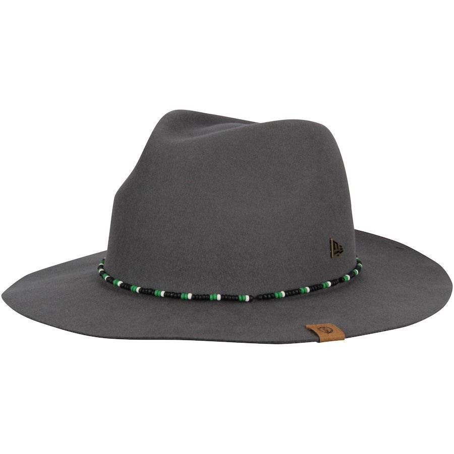 96f6a0137b4 Men s Boston Celtics New Era Gray Black Label Series Beaded Brim Fedora Hat