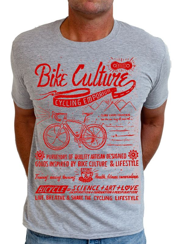 """Bike Culture"" t-shirts from Cycology. #cycling #t-shirts"