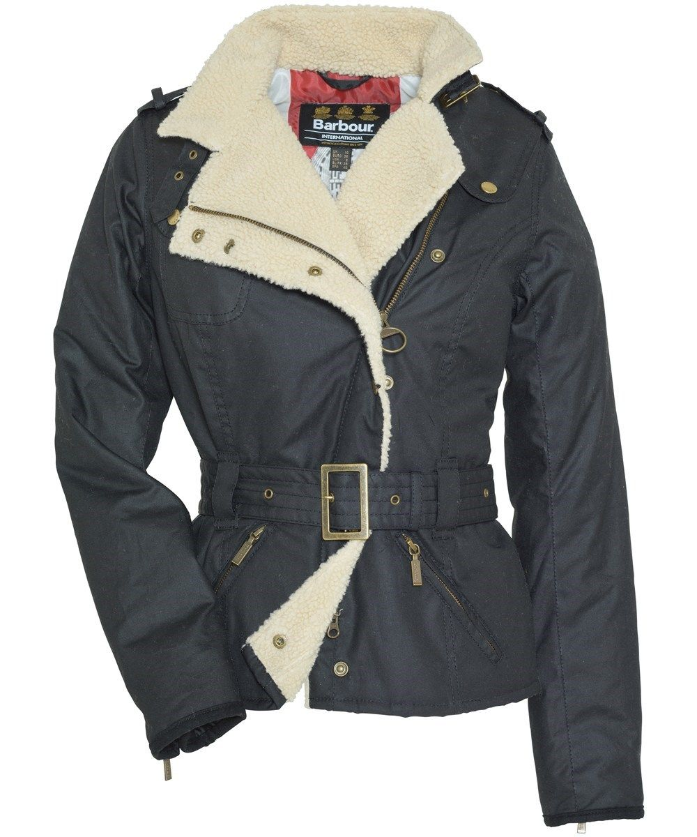 Womens Barbour Matlock Waxed Jacket - Black  460d9f5afb