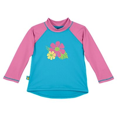 Sun Smarties Baby & Girl's UV Long Sleeve Rash Guard Shirt