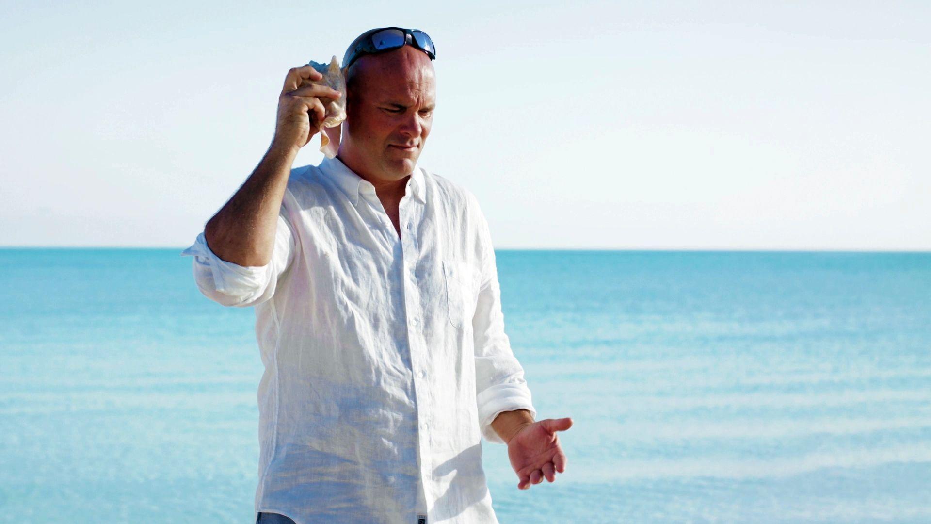 Bryan baeumler tries to take a walk on the beach then