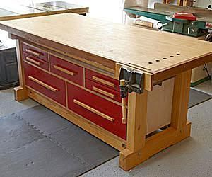 17 diy workbench plans that are all free diy workbench workbench diy workbench plans that are all free double duty workbench plan from wood magazine keyboard keysfo Images