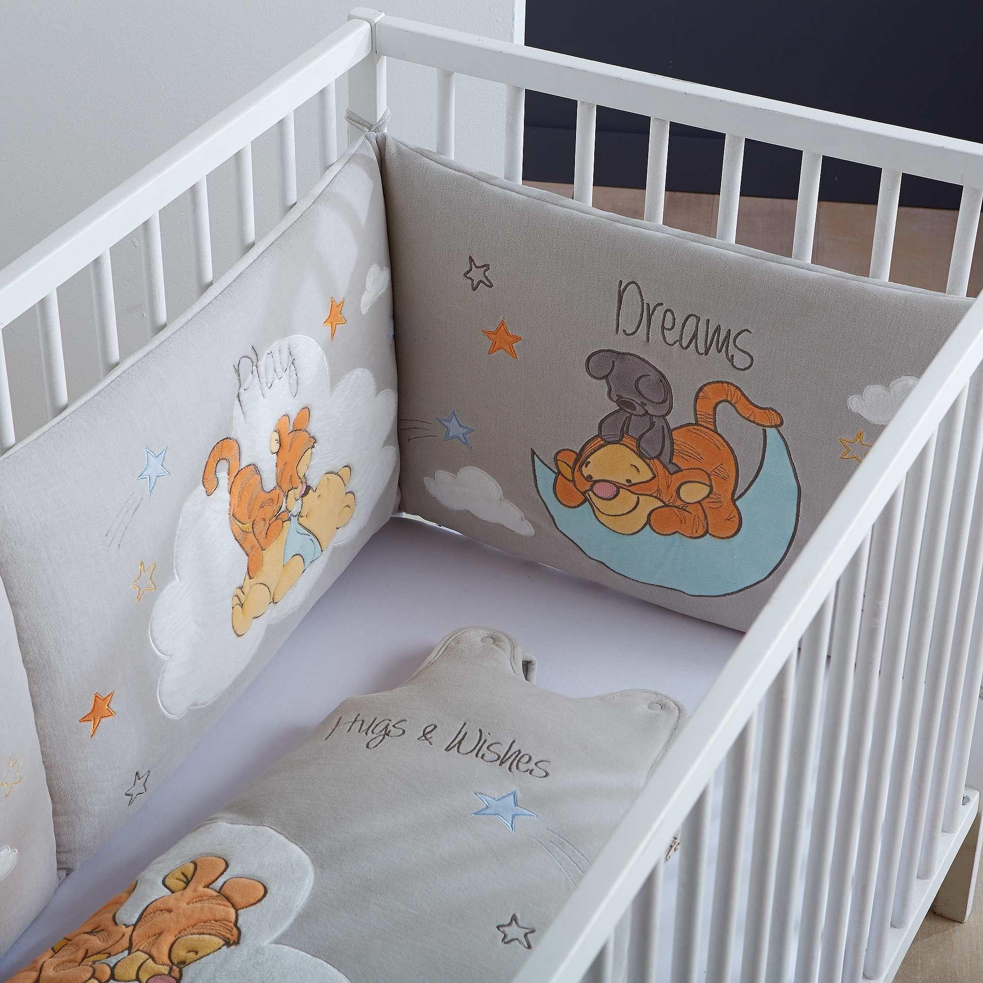 tour de lit bébé tigrou Accueil Bébé garçon Tour de lit Tour de lit brodé Winnie et Tigrou  tour de lit bébé tigrou