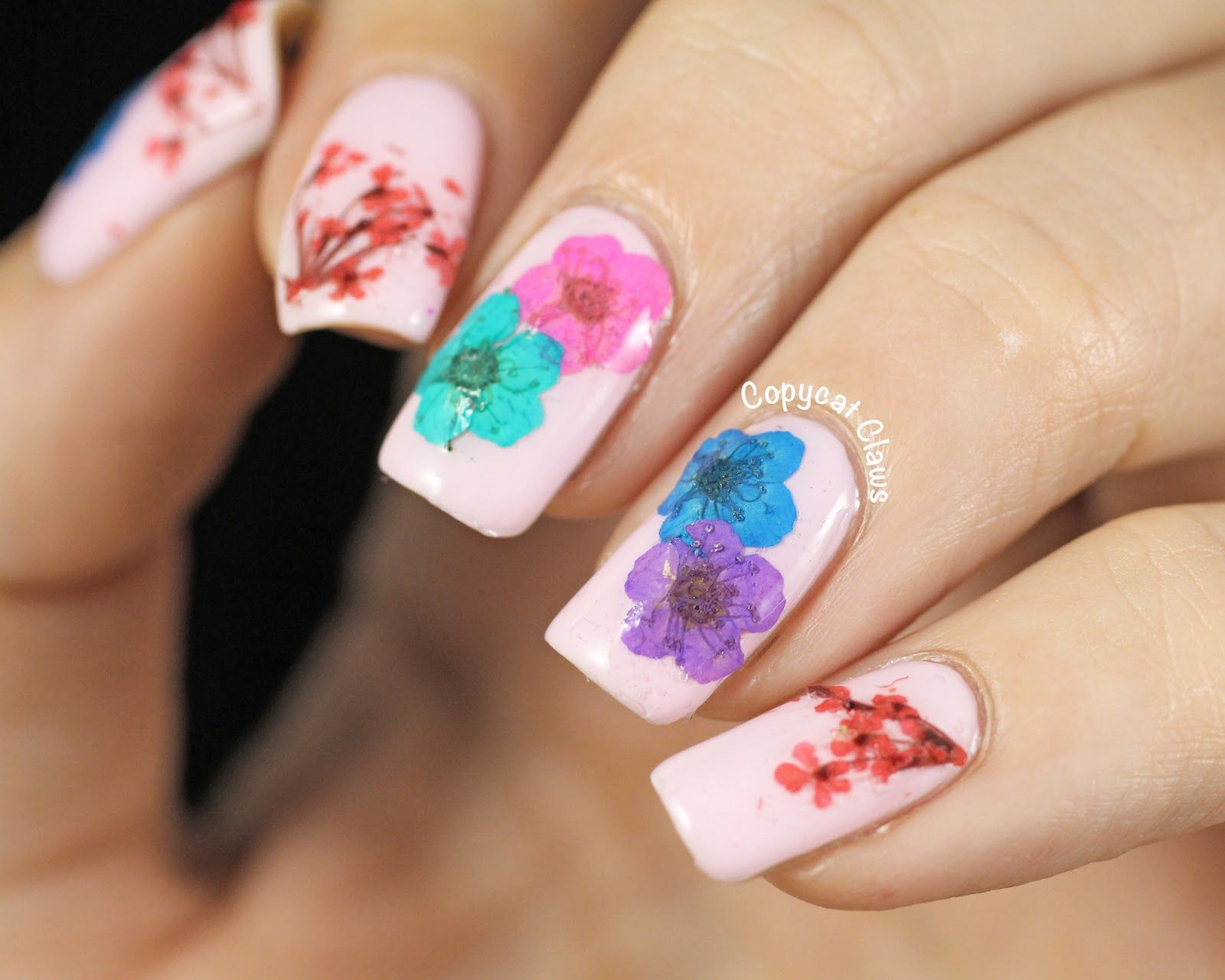 Copycat Claws: Real Dried Flower Nail Art | SS18 MUSEUM OF ME ...