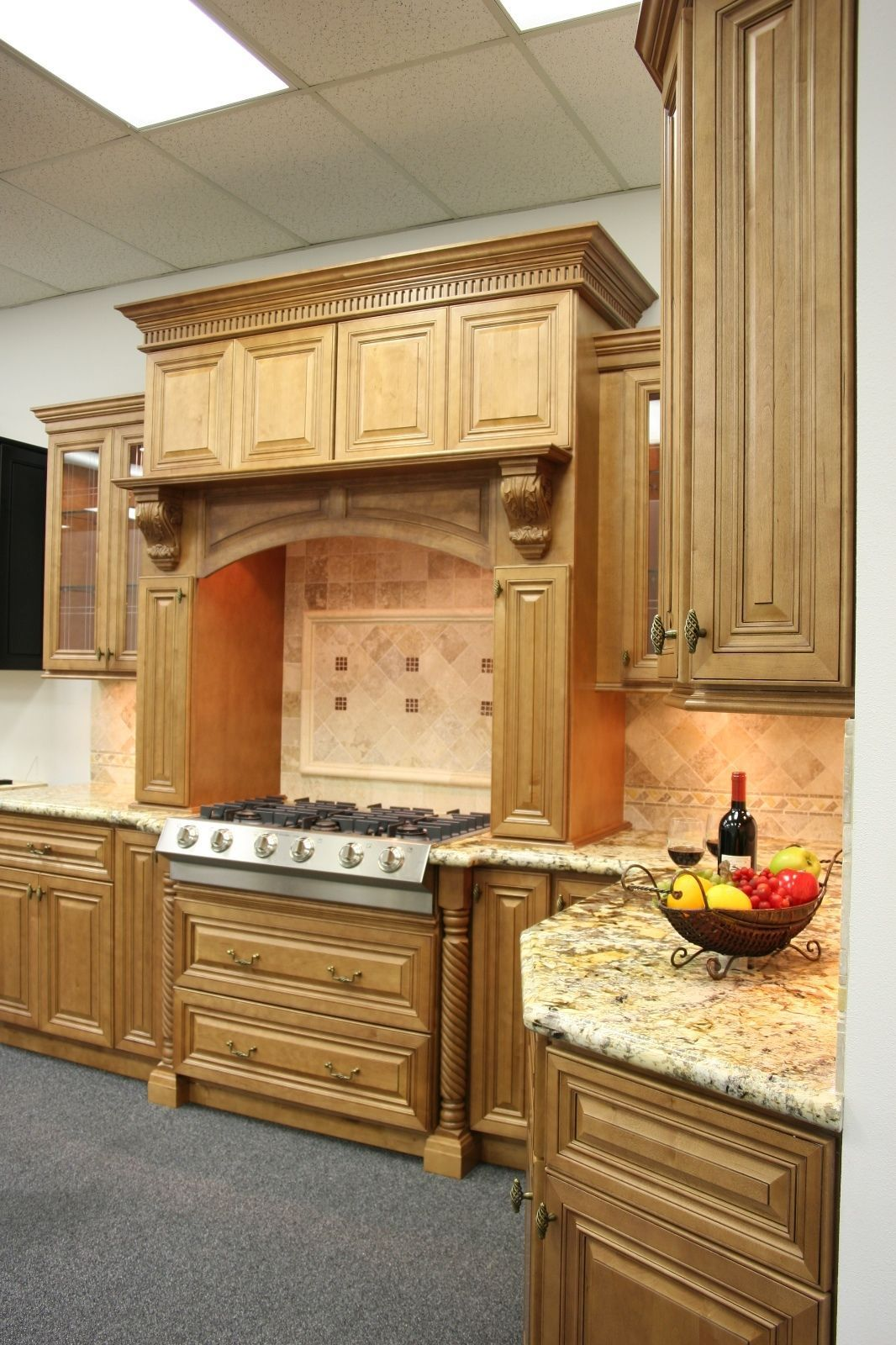 Details about 1001 NOW Kitchen Cabinets Cinnamon Maple Glazed Collection Solid Wood is part of Hanging cabinet Design -