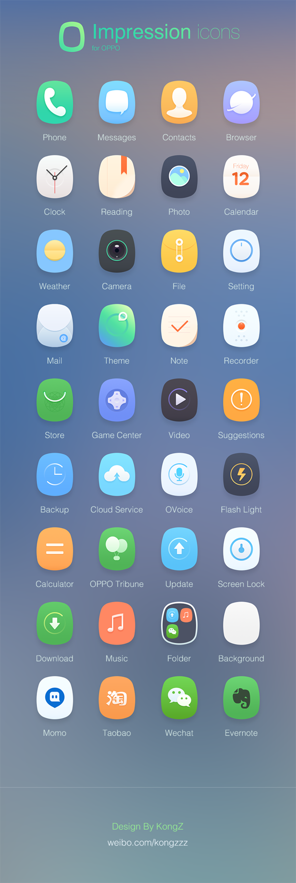 Impression -- theme for OPPO phone on Behance   oppo   App