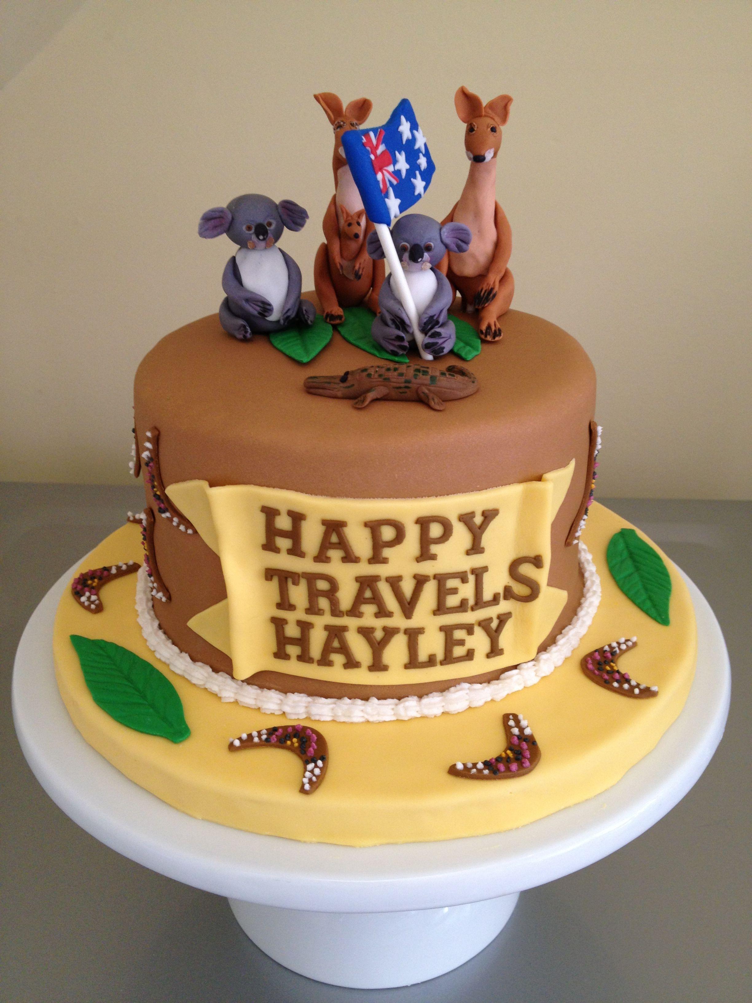 Happy Travel Aussie Cake Tastycakes Pinterest Cake Australia