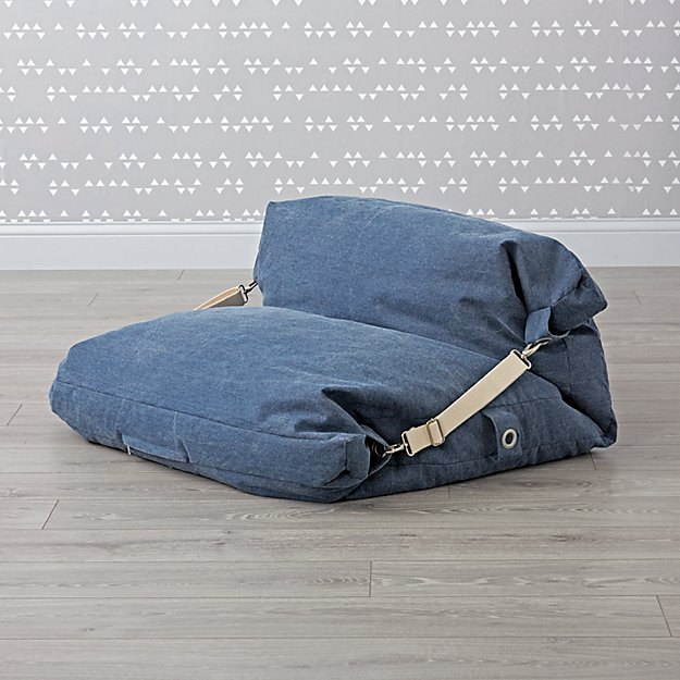 Kids Blue Bean Bag Bed Chair Reviews Crate And Barrel Bean Bag Chair Blue Bean Bags Bean Bag Bed